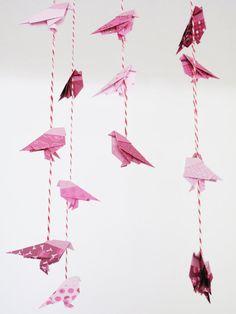 Pink Origami bird mo