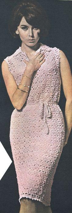 Tressernes store hit, Mary Quant, har givet inspiration til kjolen i kniplingsmønster