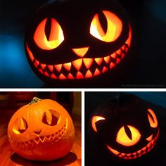 mufflednoise * tumblr — My Halloween pumpkin, The Cheshire Cat! I wanted...