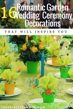 16 Romantic Garden Wedding Ceremony Decorations That Inspire