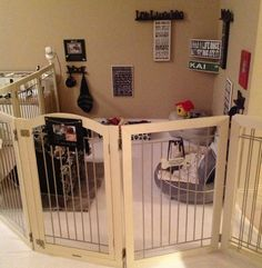 Playpen for puppies when company's over.
