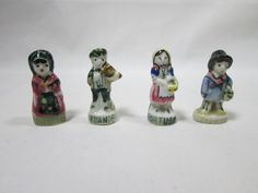 Vintage 4 French Kings Cake Porcelain Country by AVintageStore