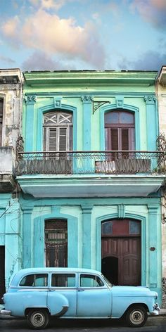 The fantastic array of various cool hues in Havana, Cuba- que manifico! #WanderMuch? @billabong