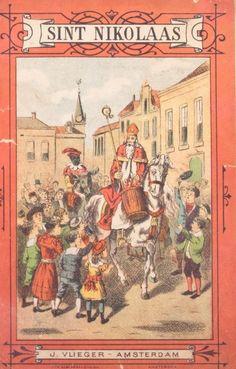 St. Nicolaas en Pieterbaas te paard, boekje ca. 1900