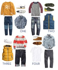 four fall looks for the boys!