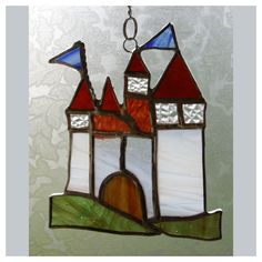 Fairytale Castle Stained Glass Suncatcher