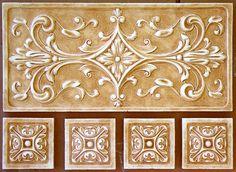 Medium Medallions for Decorative Wall Art Mediterranean Kitchen Tiles, Spanish Kitchen, Tuscan Bathroom, Master Bathroom, 3d Interior Design, Unique Tile, Small Tiles, Tuscan Design, Vintage Tile