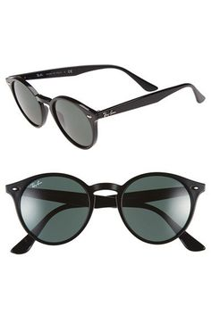 b24e813a7ad Ray-Ban Highstreet 49mm Round Sunglasses