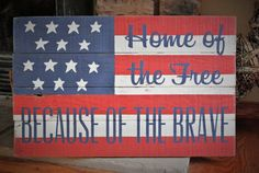 Distressed Wooden American Flag Barn Board Sign by KACountryDecor