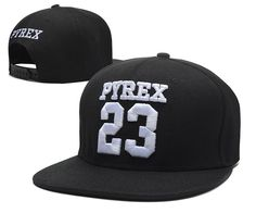 Men's Pyrex Vision Brand Number 23 Streetwear Hip Hop Fashion Snapback Hat - Black / White