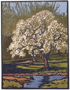 Spring 2011 Reynolds Gallery, Valley Impressions: Historic Prints and Watercolors by W. Woodcut Art, Linocut Prints, Art Prints, Block Prints, Art Graphique, Arts And Crafts Movement, Wood Engraving, Woodblock Print, Tree Art