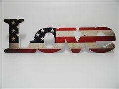 LETRA DECORATIVA LOVE BANDEIRA USA