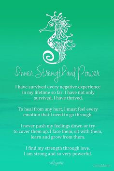 """** Affirmation - """"Inner Strength and Power"""" @CarlyMarie"""