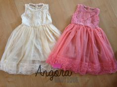 The Kate Lace and Tulle Flower Girl Dress by AngoraBoutique, $47.00