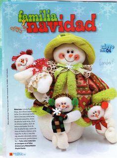 O molde dos bonecos de neve é o número Ref.:04                         creditos:picasaweb  Álbum 13-------------página Eu Amo Artesanat...