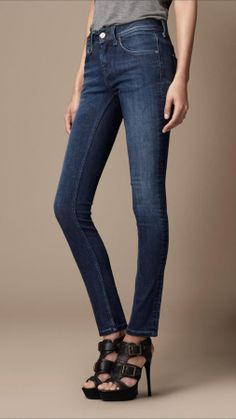 Burberry Westbourne Mid-Indigo Skinny Fit Jeans on shopstyle.com