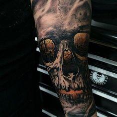 Skull tattoo : Best_tattoos #tattoos