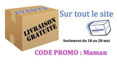 Livraison gratuite du 18 au 28 mai Code promo : Maman