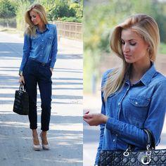Jeans world. (by Paula Jagodzinska) http://lookbook.nu/look/2468275-Jeans-world