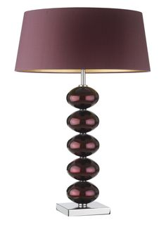 Designer Table Lamp, Purple Art Glass, sharing beautiful designer home decor inspirations: luxury living     room, dinning room & bedroom furniture, chandeliers, table lamps, mirrors, wall art, decorative tabletop & bathroom accents & gifts courtesy of     instyle-decor.com Beverly Hills enjoy & happy pinning