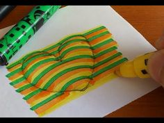 Draw a 3D Floating Heart, Visual Illusion - YouTube