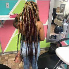 Braids With Weave, Box Braids, Jumbo Braids, Goddess Hairstyles, Weave Hairstyles, Natural Hair Styles, Long Hair Styles, Pixie Styles, Four Strand Braids