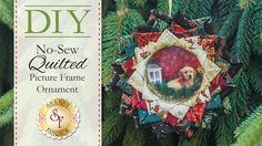 DIY No-Sew Quilted Picture Frame Ornament | with Jennifer Bosworth of Shabby Fabrics