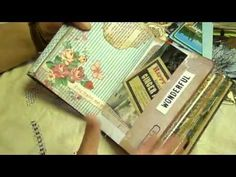 Junk Journal made using an Old Book Cover......( 6 part Tutorial) - YouTube