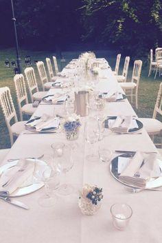 Dove Vuoi Catering - La tavola di Nicolas e Camilla, allestita alla perfezione