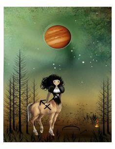 Sagittarius by Charlene Murray Zatloukal (RusticGoth on Etsy)