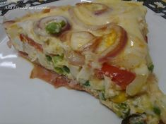 Fritada de Ovos a Portuguesa Breakfast Items, Lasagna, Cake Recipes, Cabbage, Sandwiches, Food And Drink, Pizza, Low Carb, Chicken