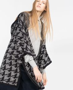 PONCHO WITH HOOD-Capes-Outerwear-WOMAN | ZARA United States