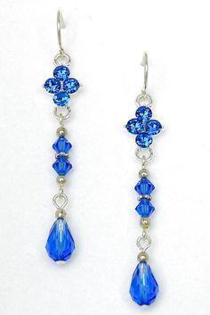 Beaded earrings 88101736448131982 - Swarovski Crystal Beaded Earrings, Sapphire Blue Sparklers Source by loungekitty Beaded Earrings Patterns, Diy Earrings, Earrings Handmade, Beaded Jewelry, Stud Earrings, Jewellery, Swarovski Crystal Beads, Birthstone Jewelry, Diamond Studs
