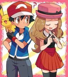 Pikachu: OOOH THEY'RE IN LOVE!!! Ash: Be quit Pikachu im busy!