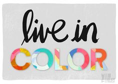 live in color! Black and white pop of color theme