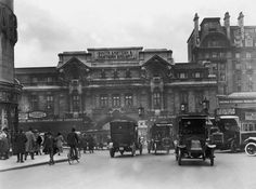 The Exterior of London Victoria Station in South West London England in January 1924