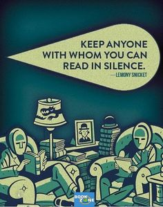 Oh, to sit all alone, together, and read quietly. Occasionally, reading a passage out loud would be Heavenly.