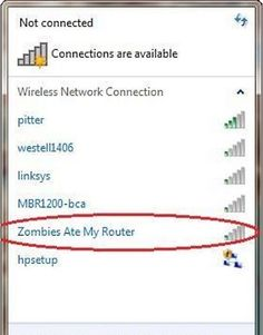 Bad zombies-funny wifi names