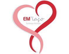 Logótipo EM'laço.  O grande objetivo deste projeto é o combate ao isolamento social das pessoas com Esclerose Múltipla.