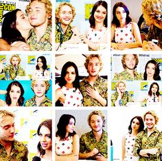 Adelaide Kane and Toby Regbo attend San Diego Comic-Con 2014 on July 24, 2014