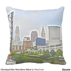 Cleveland Ohio West River Pillow