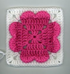 Granny Square 4-Heart Crochet Pattern