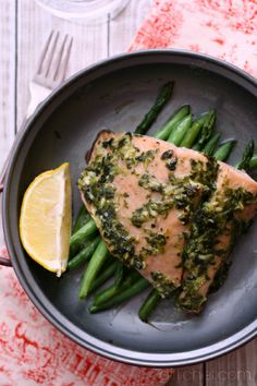 Herb Roasted Salmon w/ Veggies | www.girlichef.com