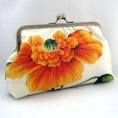 Flower clutch.  Summer chic.