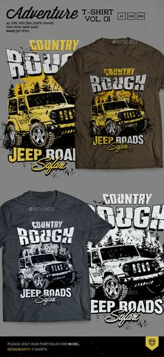 Off Road Adventure #T Shirt #Design - #Grunge Designs Download here: https://graphicriver.net/item/off-road-adventure-t-shirt-design/18524073?ref=alena994