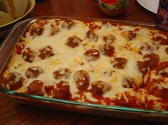 My family loves this one.  I use premade meatball and frozen garlic toast slices (thawed first).