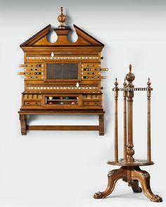 The Kinross House Cue Carousel and Scoring Cabinet - Billiard Room Ltd