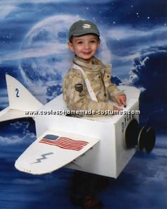 Airplane Costume (could also be done as a rocket/astronaut)