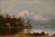 Albert Bierstadt - Mountain Canoeing