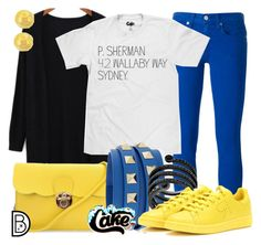 """P. Sherman Finding Nemo"" by leslieakay ❤ liked on Polyvore featuring Polo Ralph Lauren, Valentino, Michael Kors, adidas, Lord & Taylor, disney and disneybound"